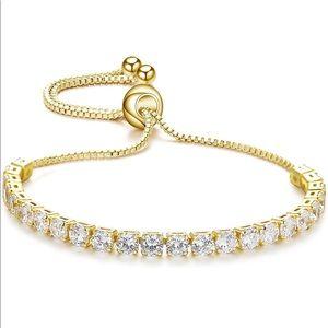 Crystal Zirconia Bracelet 14K